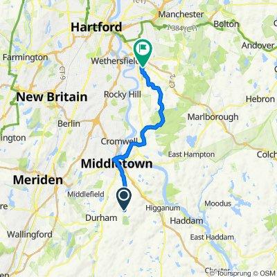 152–164 Foot Hills Rd, Durham to 232 Williams St E, Glastonbury