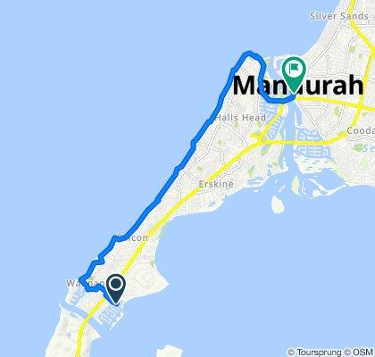34 Estuary Place, Mandurah to 29 Mandurah Terrace, Mandurah