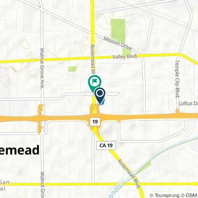 3610 Rosemead Blvd, Rosemead to 3642 Rosemead Blvd, Rosemead