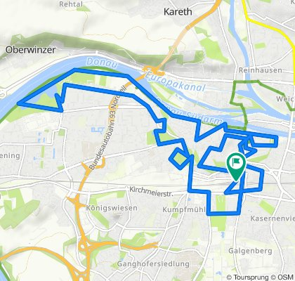 R2 Regensburg day tour circuit (Germany)