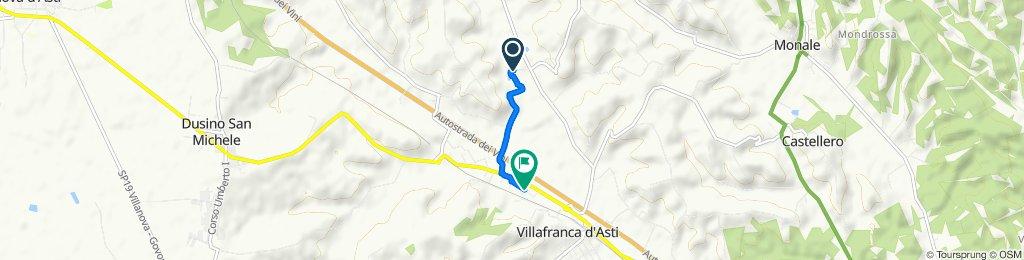Da Regione Crocetta a Regione Taverne 77, Villafranca d'Asti
