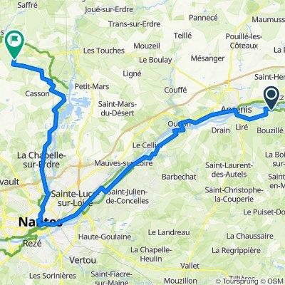 Les Babins, Orée-d'Anjou to Le Petit Boudon, Héric