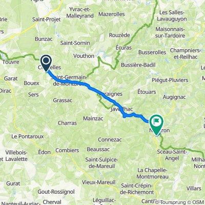 De Rue de la Courtine, Chazelles à 2 Route de Nontron, Saint-Martial-de-Valette
