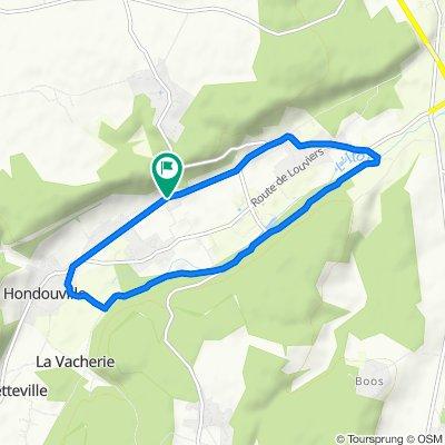 De Rue des Londettes 3, Hondouville à Rue des Londettes 3, Hondouville