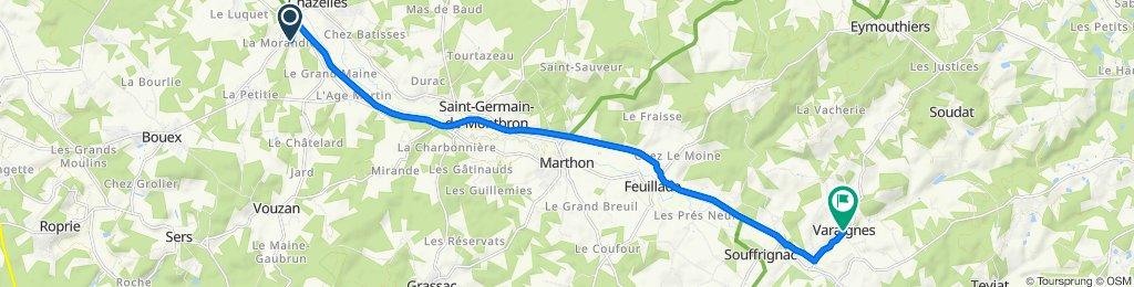 De 14 Rue de la Courtine, Chazelles à 107 Le Bourg, Varaignes