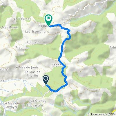 Itinéraire vers Roqueblanque, Calmels-et-le-Viala