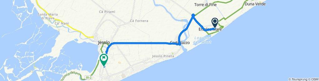 Da Via Dancalia 109, Eraclea Mare a Via Roma Destra 215, Jesolo