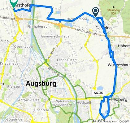 Winterbruckenweg 20, Friedberg nach Benatzkystraße 14, Gersthofen
