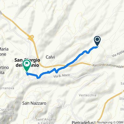 Da Via Bosco Sant'Agnese 16–22, Calvi a Viale Principe Carlo Spinelli 106, San Giorgio del Sannio