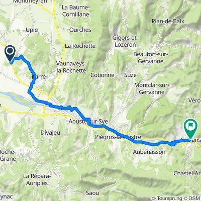 De Aiguebonne, Allex à D580, Saillans