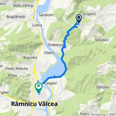 DJ703F, Runcu to Strada Nicolae Epure 15, Râmnicu Vâlcea