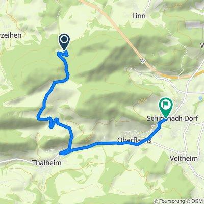 Route nach Rebbergstrasse 1, Schinznach Dorf
