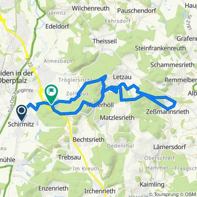 Abwandlung Tour 3 Rundkurs von Schirmitz