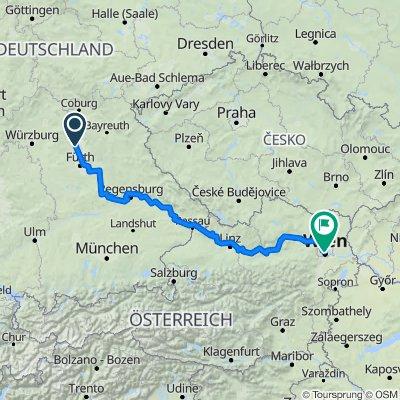 Auf dem Rad von Aisch nach Wien