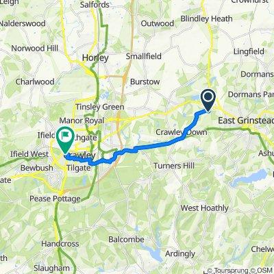 3 Oak Farm Place, East Grinstead to 8 Lyndhurst Close, Crawley