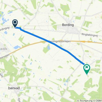 Bordingvej, Bording to Jægersprisvej, Bording
