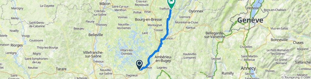 Itinéraire à partir de 16 Impasse du Mas Choquet, Bourg-Saint-Christophe