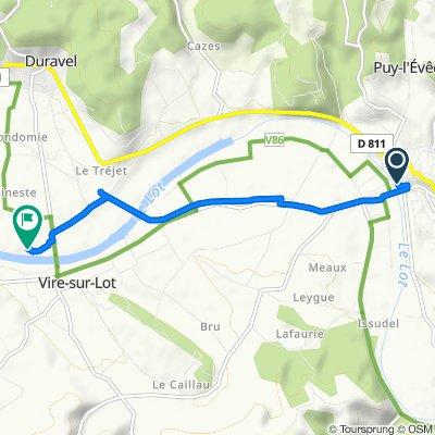 De Rue de la Cale 1, Puy-l'Évêque à Le Port de Viré, Duravel