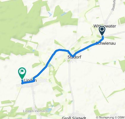 Wittenwater 25, Schwienau nach Allenbosteler Weg, Schwienau