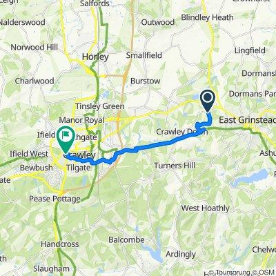 Bridle Path, East Grinstead to 1A Lyndhurst Close, Crawley