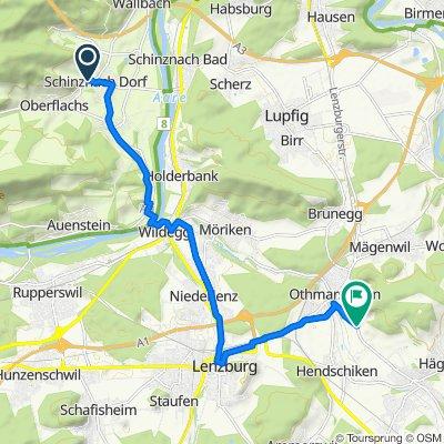 Rebbergstrasse 1, Schinznach Dorf nach Ebnetstrasse, Othmarsingen