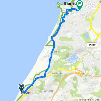 De 1 Corniche de la Falaise, Bidart à 16bis Rue Ambroise Paré, Biarritz