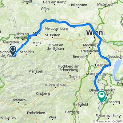 Radtour St.Leonhard am Wald über Wien ins Bgld nach Rattersdorf