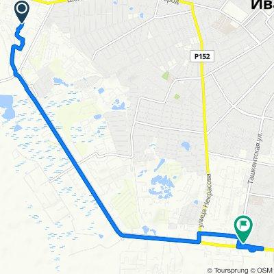 От улица Суздальская 16А, Иваново до улица Ташкентская 109, Иваново
