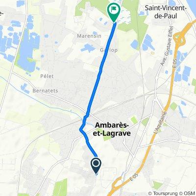 De 2 Rue des Vergers, Carbon-Blanc à 2B Rue du Monastère, Ambarès-et-Lagrave