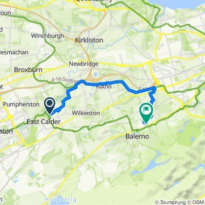 45 Badger Walk, Livingston to 16 Rowantree Grove, Currie
