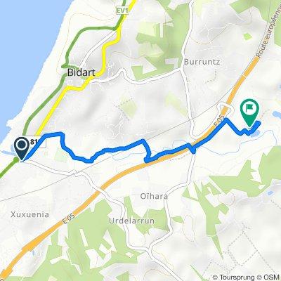 Itinéraire à partir de Rue de la Gare, Bidart