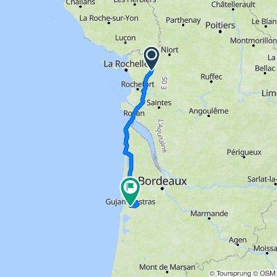 De 134 Rue de la Micourie, Saint-Georges-du-Bois à 4–6 Cours de Verdun, Gujan-Mestras