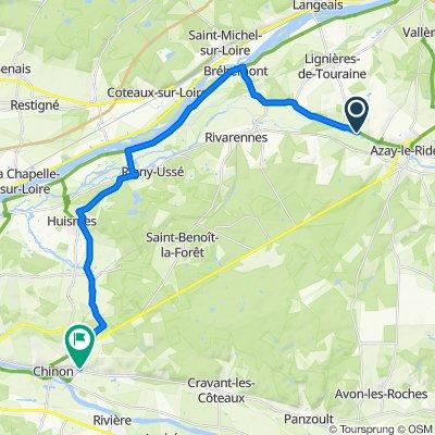 Da 60bis Route de Langeais, Azay-le-Rideau a 17 Rue de la Roche Faucon, Chinon