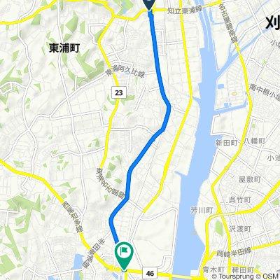 De 県道24号, Higashiura-Cho, Chita-Gun a 県道46号, Handa-Shi
