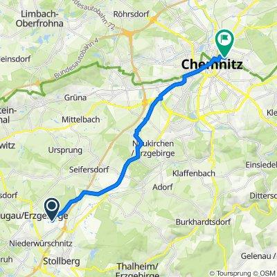 Nach den Steegen 2, Niederwürschnitz nach Tschaikowskistraße 52, Chemnitz