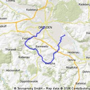 Arbeitsweg über Kreischa/Freital