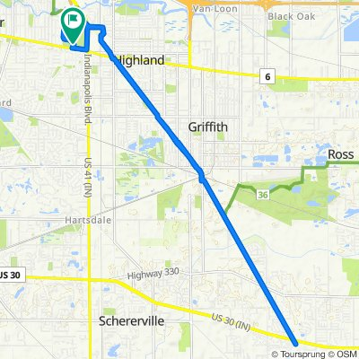 8554 Indianapolis Blvd, Highland to 8554 Indianapolis Blvd, Highland