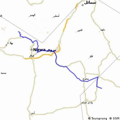 Tag 7 Mountainbike zum Wadi Bani Awf