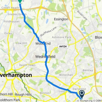 14 Powerhouse Lane, Wednesbury to Cat and Kittens Lane, Wolverhampton