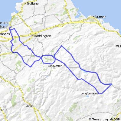 Longniddry - Gifford -Longformacus - Ellemford - Gifford - Longniddry