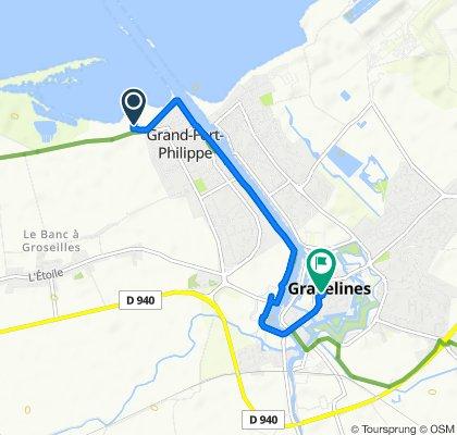 Route naar 1–3 Ruelle Demol, Grevelingen
