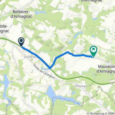 De 1441 Route de Cazaubon, Labastide-d'Armagnac à Chemin de Lille, Mauvezin-d'Armagnac
