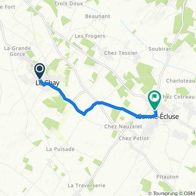 De 6 Rue Saint-Martin, Le Chay à 4 Rue de la Croix, Corme-Écluse