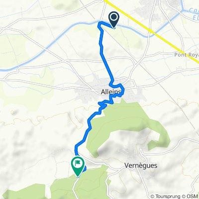 Itinéraire vers D16, Aurons