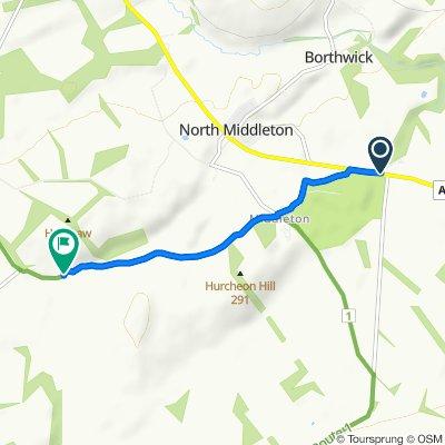 Route from A7, Gorebridge