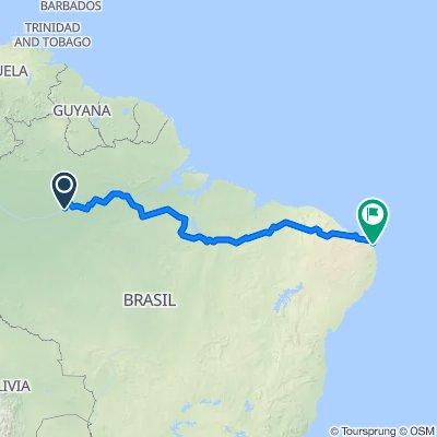 De Rua da Saudade, 136, Manaus a Rua Erivan França, 33, Natal