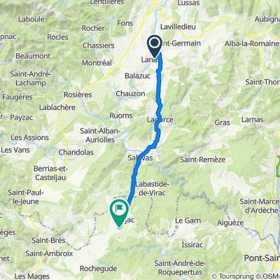 De Chemin de l'Auzon, Saint-Maurice-d'Ardèche à D979, Barjac