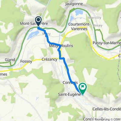 De Route de Mézy Moulins 2, Chartèves à Rue de Celles 11, Monthurel