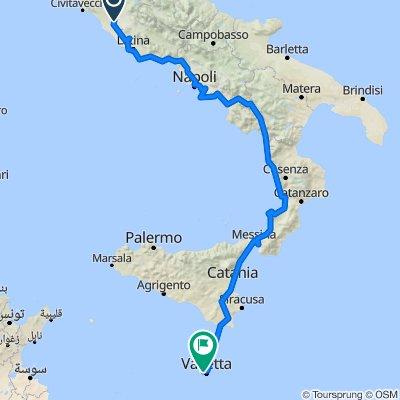 Bikepacking Italy 2 Rome-Malta