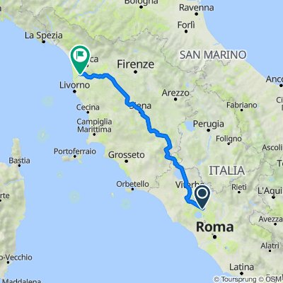 Via Roma 101, Monterosi naar Largo Parlascio 4, Pisa